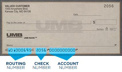 Umb Routing Number 101000695 Bank Check Image