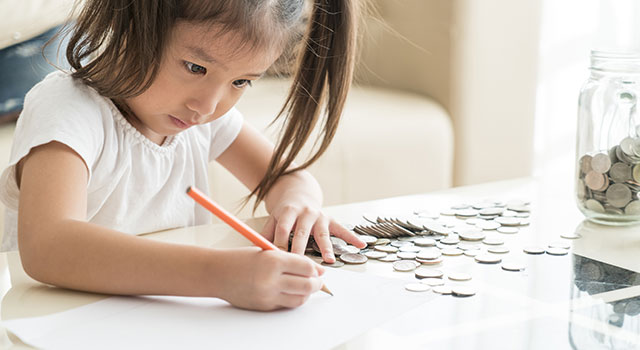 Checking accounts teach kids.